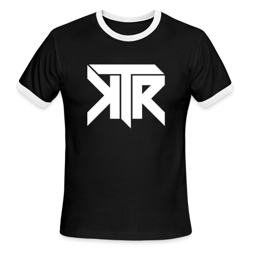 KTR Logo White - Men's Ringer T-Shirt