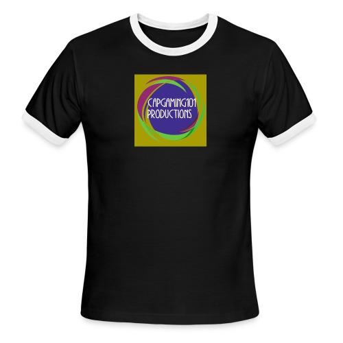 Basic Tee-Shirt. With basic logo - Men's Ringer T-Shirt