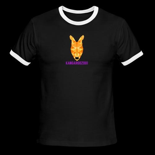 Kangaroozoo1 Logo & Name - Men's Ringer T-Shirt