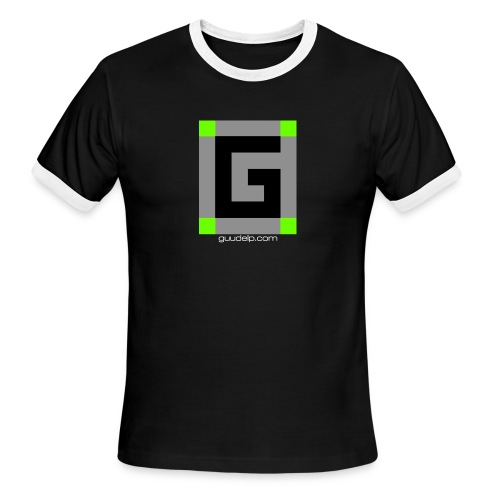 Guude Logo with White Text - Men's Ringer T-Shirt