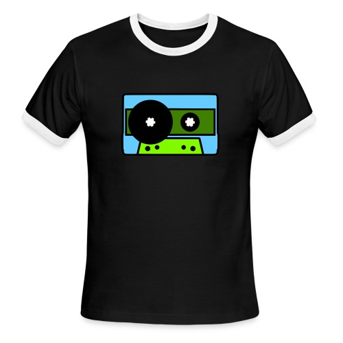 424 Recording Cassette Tape Logo T-Shirt - Men's Ringer T-Shirt
