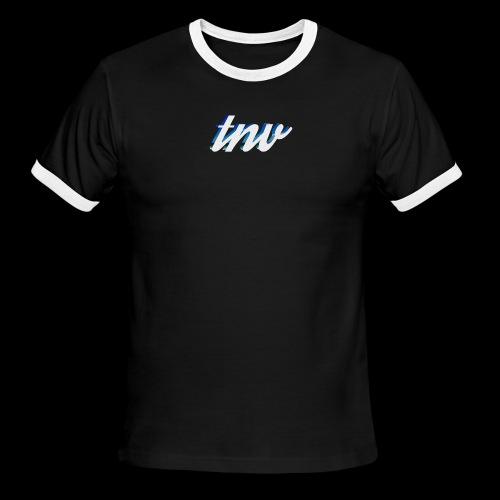 TNV WHITE DESIGN CLSSC png - Men's Ringer T-Shirt