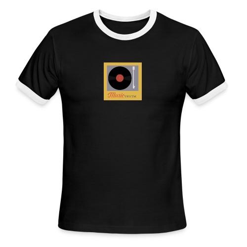 Music Truth Retro Record Label - Men's Ringer T-Shirt