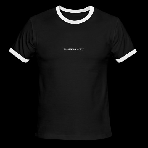 'Black' Aesthetic Anarchy - Men's Ringer T-Shirt