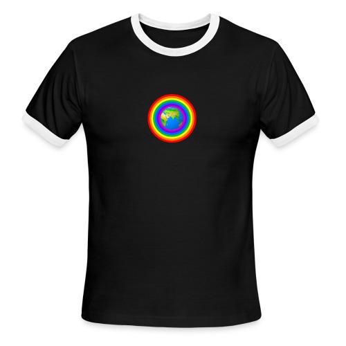 Earth rainbow protection - Men's Ringer T-Shirt