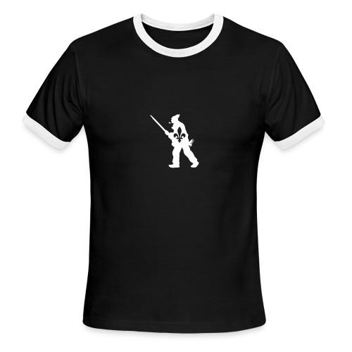 Patriote 1837 Québec - T-shirt à bords contrastants pour hommes American Apparel