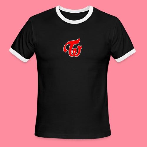 TWICE Logo - Men's Ringer T-Shirt
