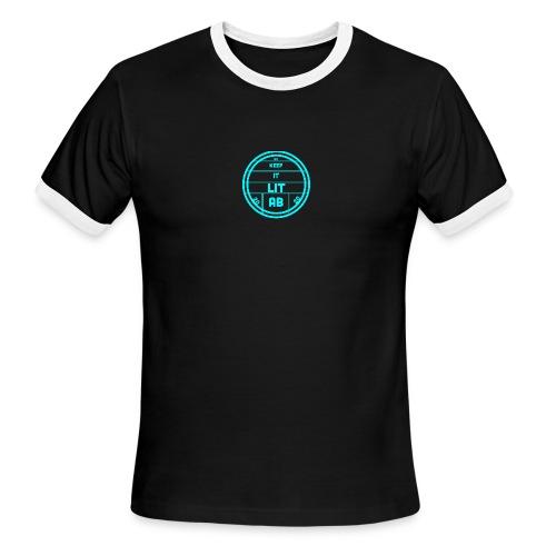 AB KEPP IT LIT 50 SUBS MERCH - Men's Ringer T-Shirt
