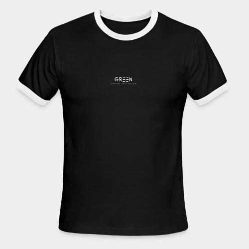 Green/Gorgeous reason evolving, ending never logo - Men's Ringer T-Shirt