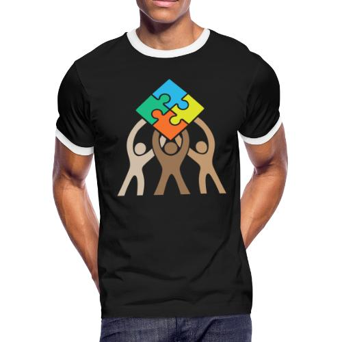 Teamwork and Unity Jigsaw Puzzle Logo - Men's Ringer T-Shirt
