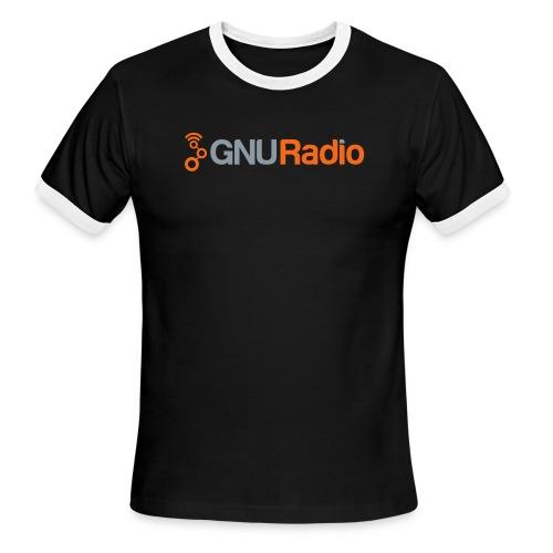 GNU Radio Logo Full - Men's Ringer T-Shirt