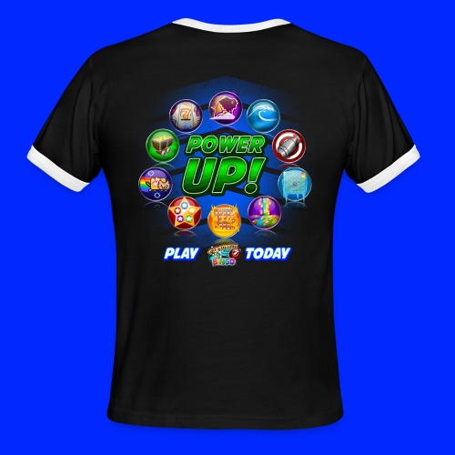 Vintage Cannonball Bingo Power-Up Tee - Men's Ringer T-Shirt
