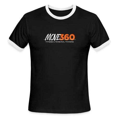 Move360 Logo LightGrey - Men's Ringer T-Shirt