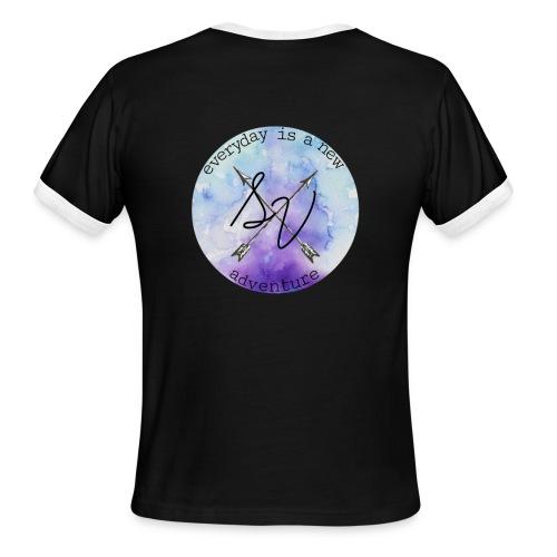 everyday is a new adventure logo - Men's Ringer T-Shirt
