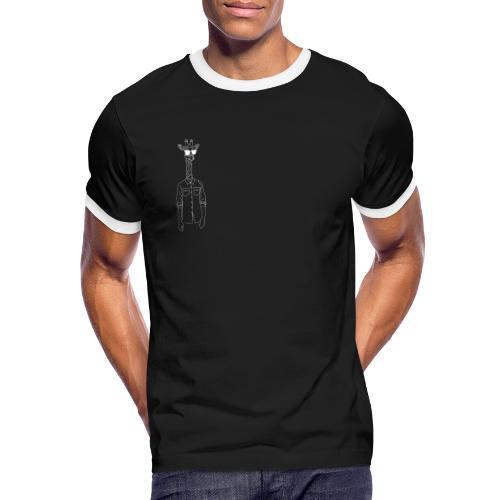 Hipster Giraffe White - Men's Ringer T-Shirt