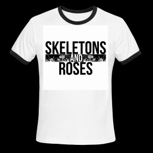 Skeletons And Roses Logo 2 - Men's Ringer T-Shirt
