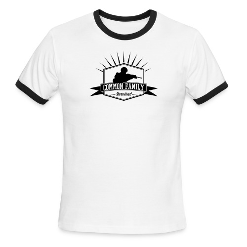 Common Family Survival YouTube Channel Logo - Men's Ringer T-Shirt