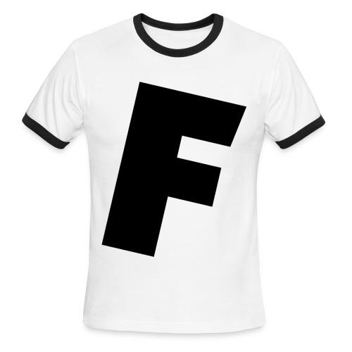 F slanted - Men's Ringer T-Shirt