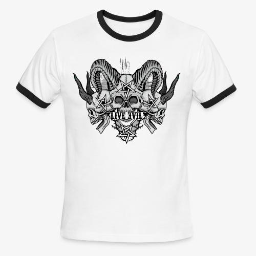 Live Evil Triple Demon - Men's Ringer T-Shirt