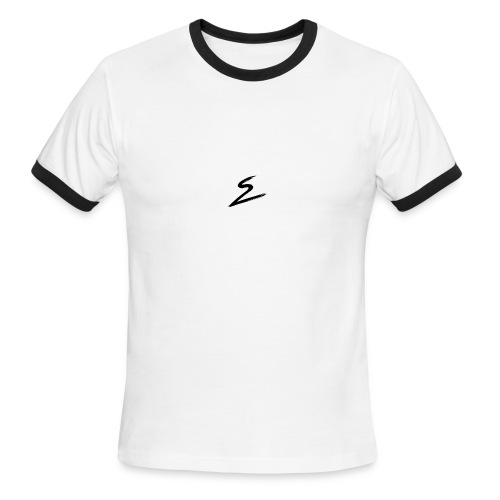 Swirv Signature Logo White - Men's Ringer T-Shirt