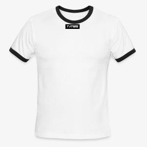 Times Supply - T-Shirt, Blanc, Homme - T-shirt à bords contrastants pour hommes American Apparel