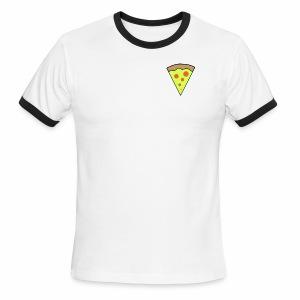 pizza icon - T-shirt à bords contrastants pour hommes American Apparel