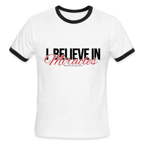 I Believe (Dark Print) - Men's Ringer T-Shirt