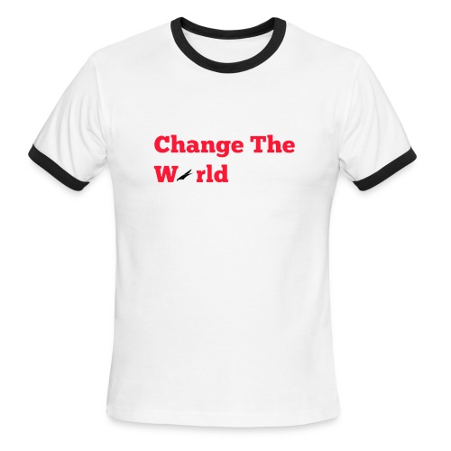 Change The World Falcon Shirt - Men's Ringer T-Shirt