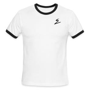 Swirv Signature Logo White - Men's Ringer T-Shirt