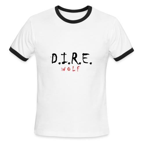 D.I.R.E. W O L F Apparel Exclusive - Men's Ringer T-Shirt