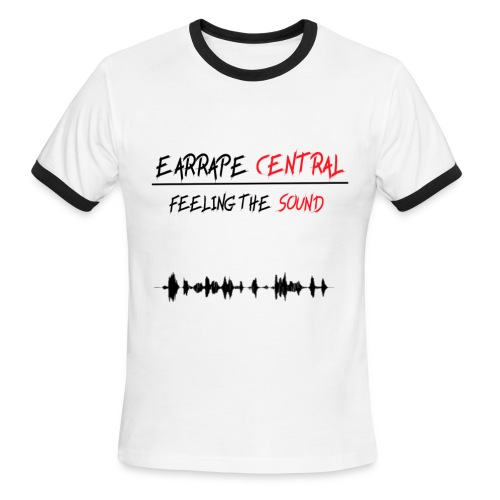 EARRAPE CENTRAL FEELING THE SOUND T-SHIRT - Men's Ringer T-Shirt