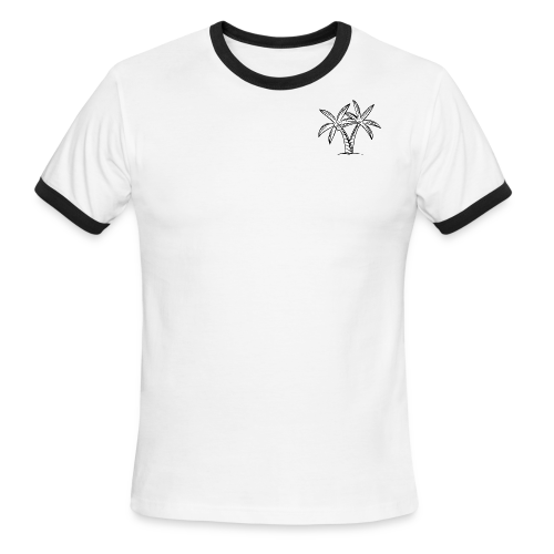 Palm tree embroidery - Men's Ringer T-Shirt