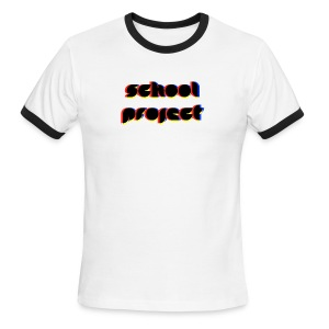 SCHL PRJCT Glitch R - Men's Ringer T-Shirt