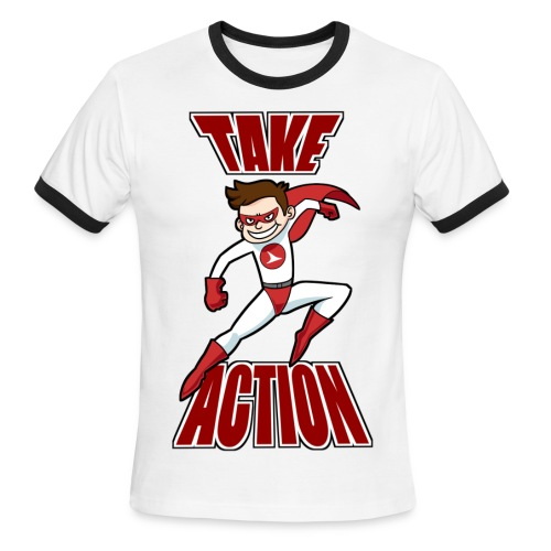 Thorn - Take Action - Men's Ringer T-Shirt