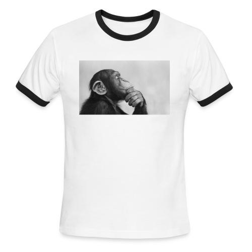 thinking - Men's Ringer T-Shirt