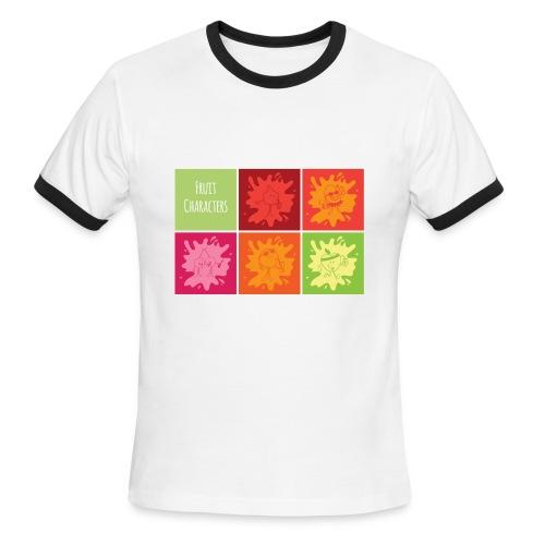 Fruit characters - Men's Ringer T-Shirt