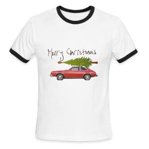 Ford Pinto Merry Christmas - Men's Ringer T-Shirt