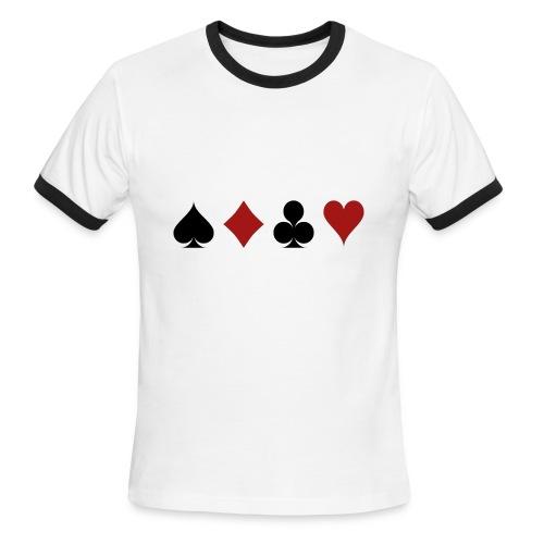cartes 159600 1280 - T-shirt à bords contrastants pour hommes American Apparel
