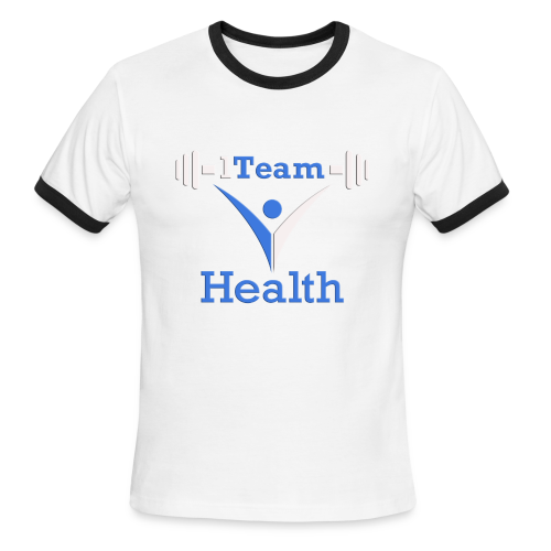 1TH - Blue and White - Men's Ringer T-Shirt