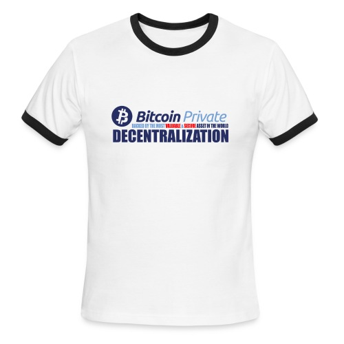 Bitcoin Private 001 - Men's Ringer T-Shirt