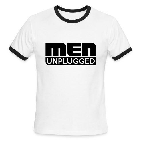 Men Unplugged cap - Men's Ringer T-Shirt