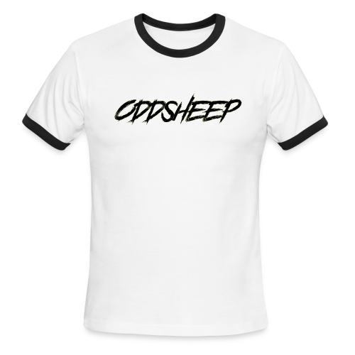 OddSheep Logo Black - Men's Ringer T-Shirt