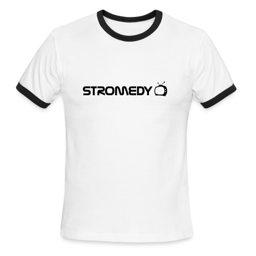 White Stromedy T-Shirt - Men's Ringer T-Shirt