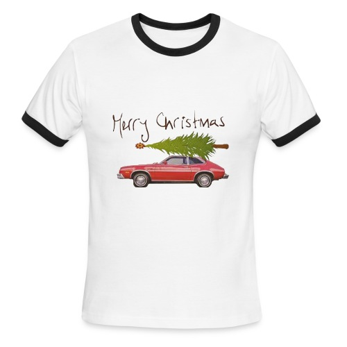 Ford Pinto Merry Christmas - Men's Ringer T-Shirt