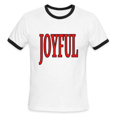 Dave The Cat Big Word Tee! Joyful! - Men's Ringer T-Shirt