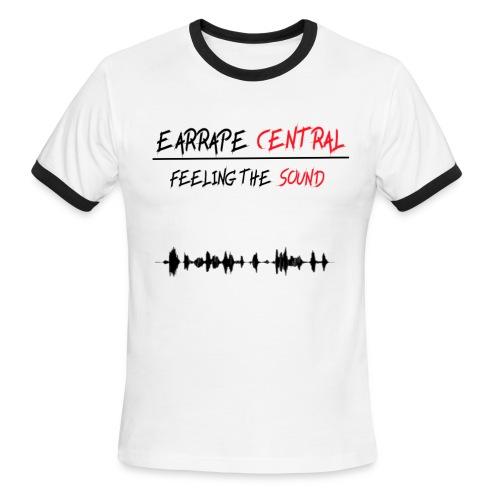 EARRAPE CENTRAL FEELING THE SOUND T-SHIRT - Men's Ringer T-Shirt