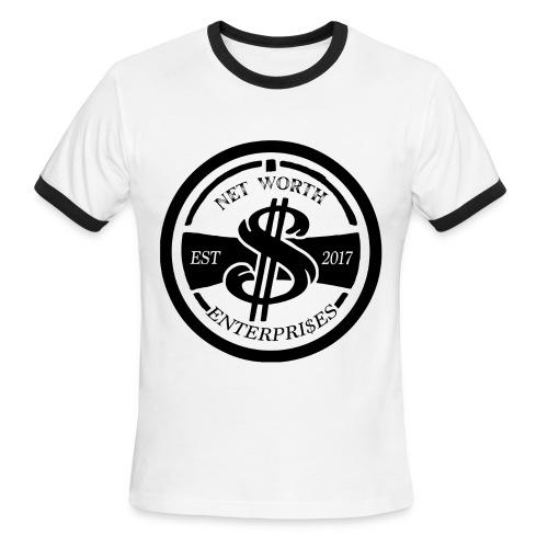 Net Worth Emblem - Men's Ringer T-Shirt