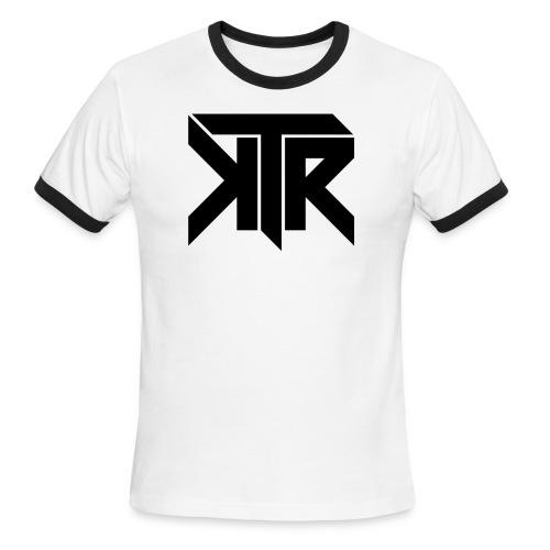 KTR Logo Black - Men's Ringer T-Shirt