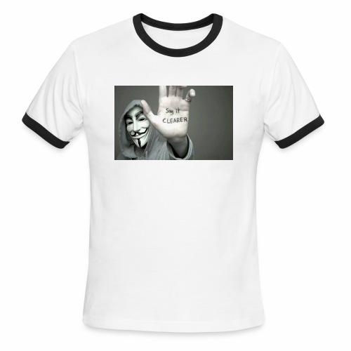 ANONYMOUS PRINTED T-SHIRT FOR MEN - Men's Ringer T-Shirt