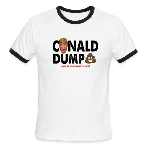 Conald Dump Worst President Ever - Men's Ringer T-Shirt